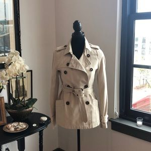 Old Navy Double Breasted Short Trench Coat Jacket
